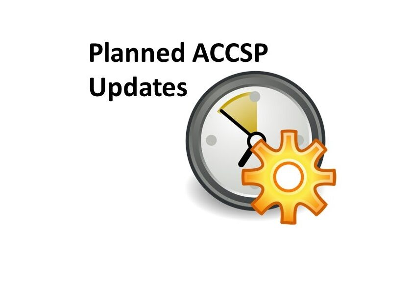Planned ACCSP updates
